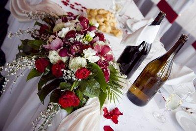 Esküvői főasztaldísz